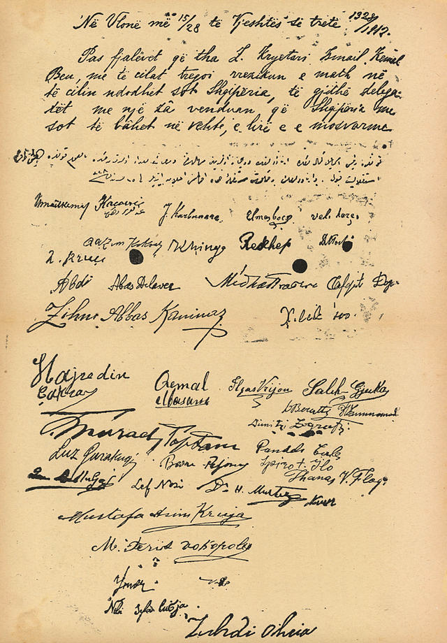 Image result for shpallja e pavaresise se shqiperise 1912